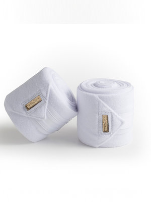 Equestrian Stockholm White Perfection Gold bandages