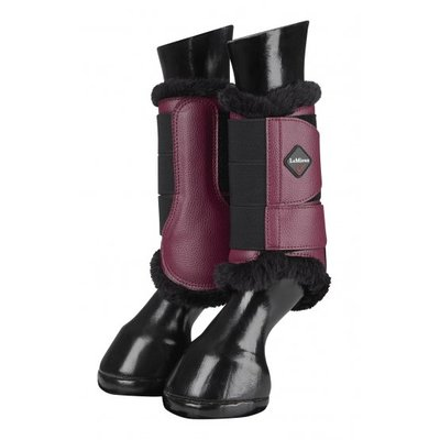 Le Mieux fleece lined brushing boots Mulberry