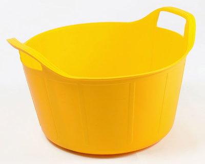 RB 14 liter geel met deksel