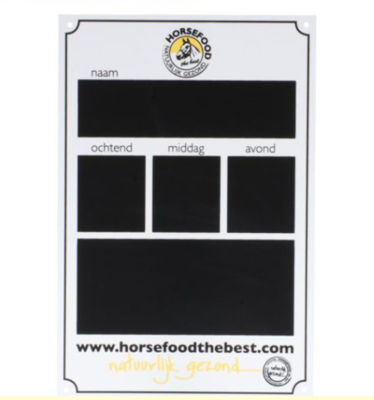 Horsefood stalbordje