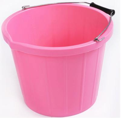 RB emmer met hengsel 3 gallon - licht roze