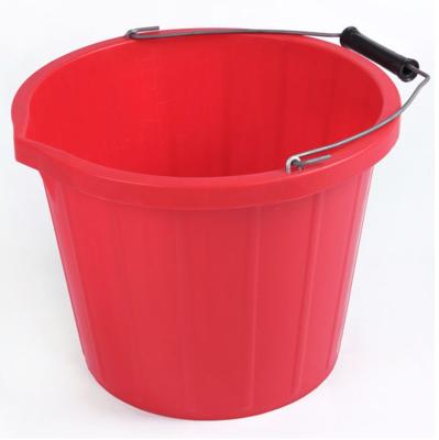 RB emmer met hengsel 3 gallon - rood