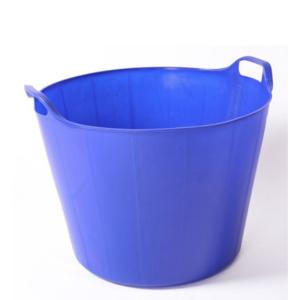 RB trug 45 liter donkerblauw met deksel